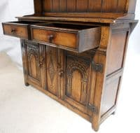 Oak Welsh Dresser of Small Proportions in the Antique Tudor Style
